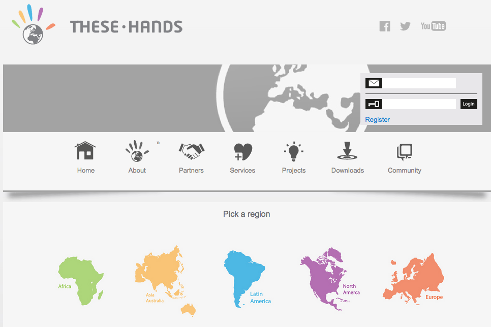 These Hands Social Network Home Page